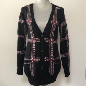 Aritzia Wilfred Free fuzzy knit long cardigan